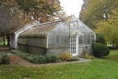 Rustic old greenhouse. A rustic old greenhouse at Chateau St. Michelle winery in Woodinville, Washington Stock Photos