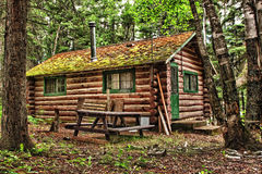 Rustic Old Log Cabin Royalty Free Stock Photos