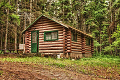 Rustic Old Log Cabin Stock Photos