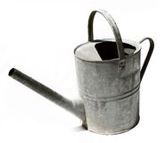 Rustic old metal watering can Stock Photography