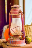 Rustic old oil lantern Royalty Free Stock Images
