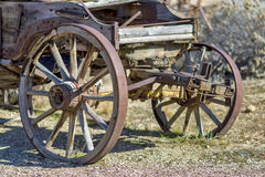 Rustic old pioneer wagon Stock Photo