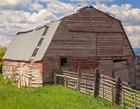 Rustic old red barn. Royalty Free Stock Photography