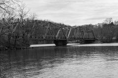 Rustic Old Steel Bridge Stock Images