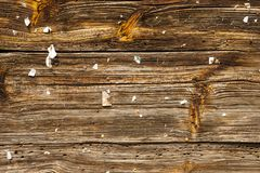 Rustic old striped board. Stock Image