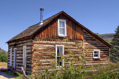 Rustic Old Time Log Cabin ii Royalty Free Stock Images
