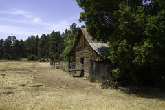 Rustic old west pioneer horse barn and shed Royalty Free Stock Photography
