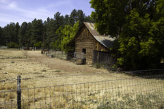 Rustic old west settler horse barn and shed Stock Image