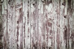 Rustic old white wood plank background with vignette Royalty Free Stock Photos