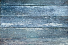 Rustic old wooden weathered plank timber background - blue tones Stock Photography