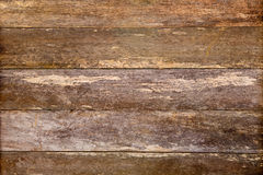 Rustic old wooden weathered plank timber background - brown Royalty Free Stock Image