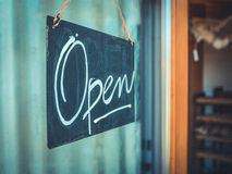 Rustic Open Sign Stock Image