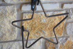 Rustic Open Star Royalty Free Stock Photos
