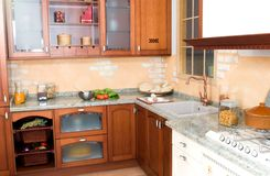 Rustic Or Country Style Kitchen Royalty Free Stock Photography