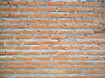 Rustic orange brick wall background with cement paste. Royalty Free Stock Photos