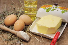 Rustic organic foods Royalty Free Stock Photo