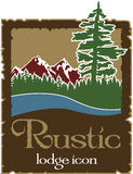 Rustic outdoors logo with copy space. In Vector Format vector illustration