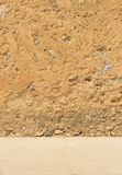 Rustic outwall brown colored Royalty Free Stock Image