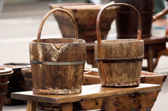 Rustic Pails Royalty Free Stock Photography
