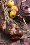 Rustic pastries and tea Royalty Free Stock Photography