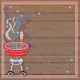 Rustic Patriotic or 4th of July BBQ Party Royalty Free Stock Photo