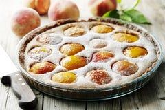 Rustic peach tart Royalty Free Stock Image