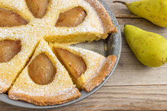 Rustic Pear Frangipane Tart Royalty Free Stock Photography