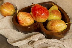 Rustic Pears Royalty Free Stock Photography