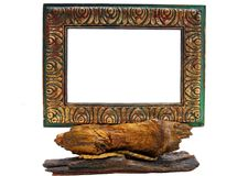 Rustic Picture Frame Stock Photography