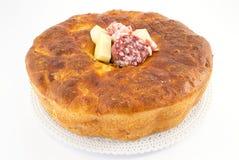 Rustic pie- casatiello- tortano Royalty Free Stock Photos