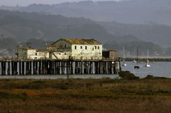 Rustic pier buildings Royalty Free Stock Photography