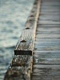 Rustic pier. Wooden pier and walk way in Melbourne bay, Australia Stock Image