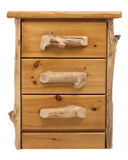 Rustic pine chest with drawers Royalty Free Stock Image