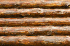 Rustic Pine Log Cabin Wall Royalty Free Stock Photos