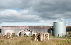 Rustic pinkish barn closeup Stock Photo