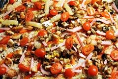Rustic pizza Stock Photos