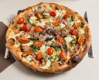 Rustic Pizza Royalty Free Stock Images