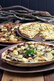 Rustic Pizzas Royalty Free Stock Photos