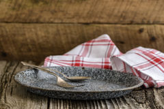 Rustic Place Setting Stock Photos