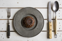 Rustic place setting Stock Photo