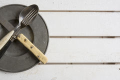 Rustic place setting Stock Photography