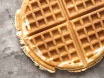 Rustic plain waffle Stock Image