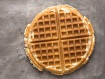 Rustic plain waffle Stock Photography