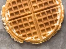 Rustic plain waffle Stock Photos