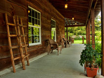 Rustic porch Royalty Free Stock Photography