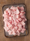 Rustic pork fat cube Stock Photos