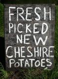 Rustic Potatoes Sign Stock Photos