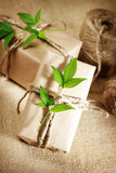 Rustic Present boxes Royalty Free Stock Photography