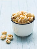 Rustic puffed corn snack Stock Photo