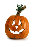 Rustic Pumpkin Jack-O-Lantern Royalty Free Stock Photos
